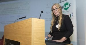 Concussion in football campaigner Dawn Astle at the UKBIF event