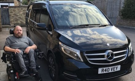 Ross enjoys landmark journey in Mercedes V-Class wheelchair accessible vehicle