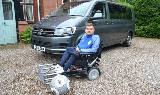 Lewis Reed (WAV) Ltd helps England powerchair footballer regain his independence