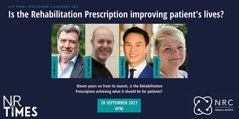 Rehabilitation Prescription Webinar